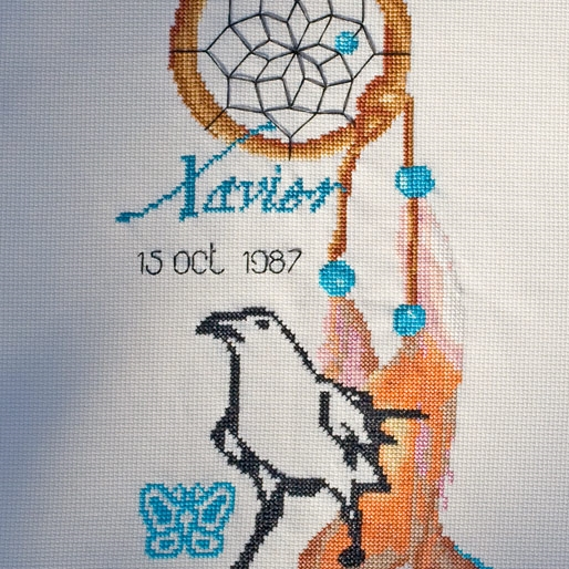 Cross Stitch for American Native Astrology : RAVEN