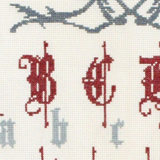 Cross stitch kit MEDIEVAL ALPHABET