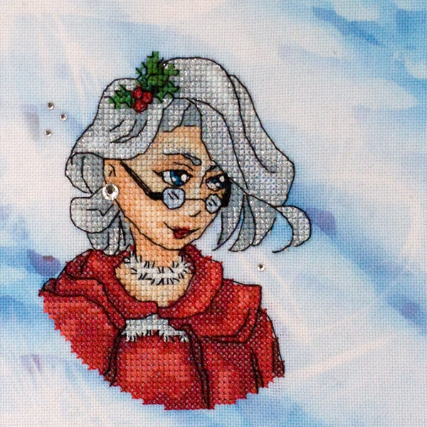 LADY CHRISTMAS cross stitch kit
